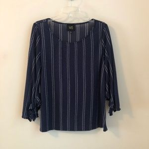 Anthropologie • Ruffle Sleeve Knit Top Shirt